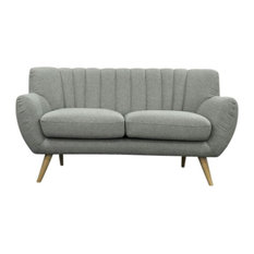 Lilly Loveseat 2-Seater Sofa Light Gray
