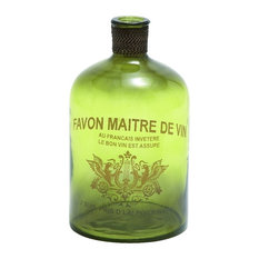 Glass Bottle Vase Favon Maitre De Vin Home Kitchen Decor 24754