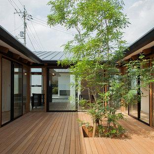 Foto di una terrazza etnica in cortile con nessuna copertura