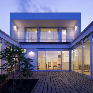 Idee per grandi terrazze e balconi moderni con nessuna copertura