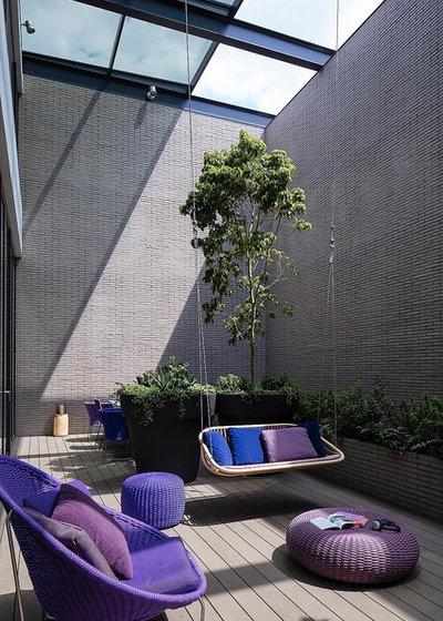 Moderne Terrasse en Bois by 建築設計事務所バケラッタ