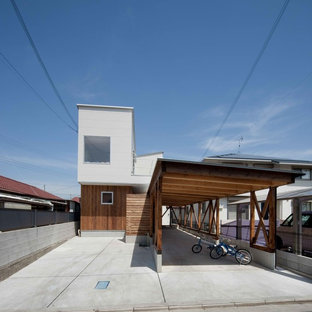 Inspiration for an industrial garage remodel in Other