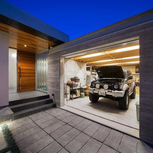 福岡の中サイズのビルトインモダンスタイルのガレージの画像 (1台用)