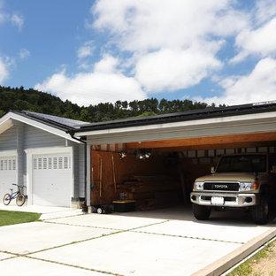 独立型トラディショナルスタイルのおしゃれなガレージの写真