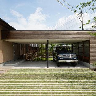 Idée de décoration pour un garage nordique.
