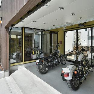 日本 名古屋のビルトインインダストリアルスタイルのガレージの写真