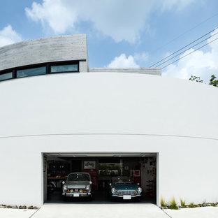 大阪のビルトインコンテンポラリースタイルのおしゃれなガレージ (2台用) の写真