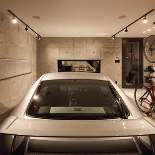 東京23区のビルトインインダストリアルスタイルのおしゃれなガレージ (1台用) の写真