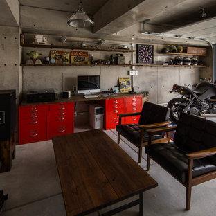 Industrial garage in Osaka.