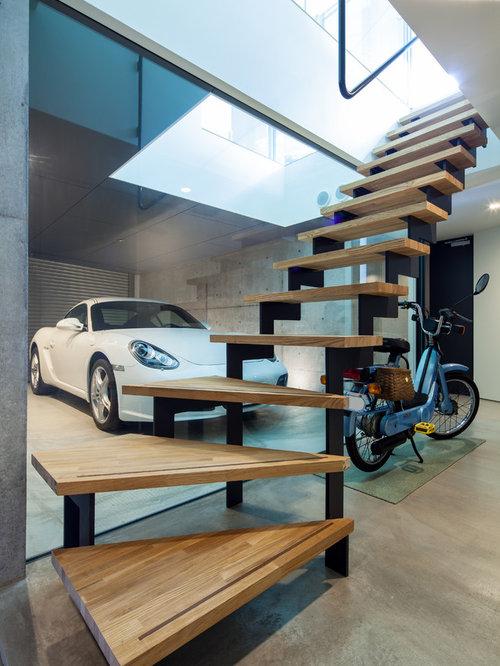 Cocheras modernas fotos puerta privada de garage for Garajes para carros
