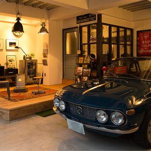 Exempel på en industriell enbils garage och förråd