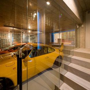 Réalisation d'un garage pour deux voitures design.