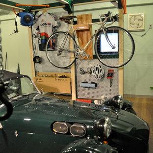 Design ideas for an industrial garage in Tokyo.