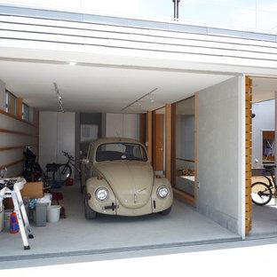 他の地域のコンテンポラリースタイルのおしゃれなガレージの写真