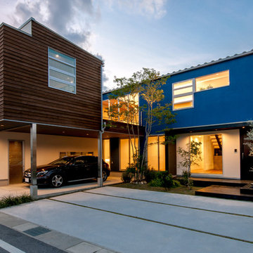 Design with open feeling that does not show private life 私生活を見せない開放感のある住宅デザイン