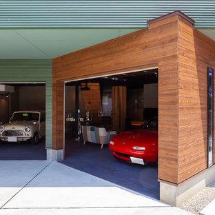 他の地域のインダストリアルスタイルのおしゃれなガレージの写真