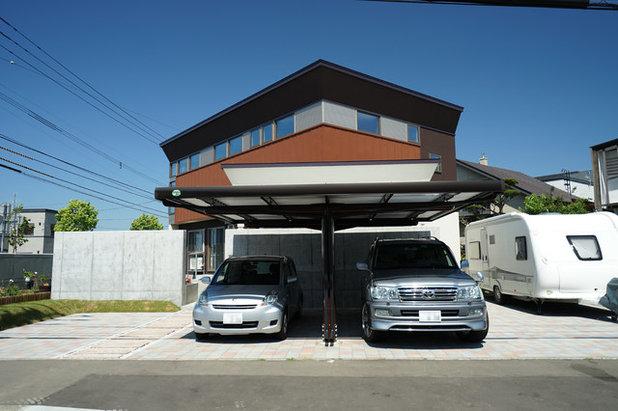 和室・和風 ガレージ by アウラ建築設計事務所