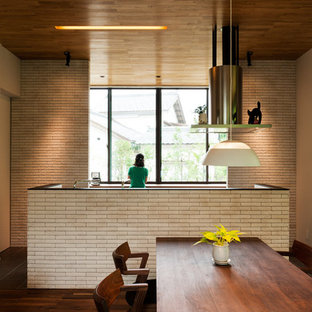 Inspiration for a midcentury kitchen in Other.