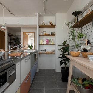 東京23区の北欧スタイルのおしゃれなキッチンの写真