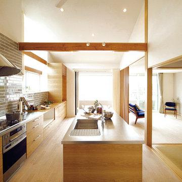 キッチンスタジオのある家