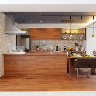 他の地域のモダンスタイルのおしゃれなキッチンの写真