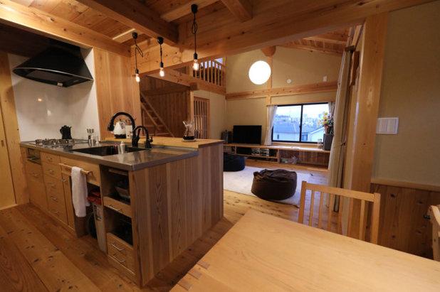 和室・和風 キッチン by 一級建築士事務所 丹羽明人アトリエ
