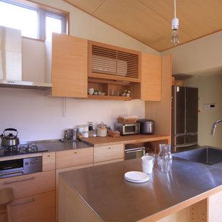 名古屋のカントリー風おしゃれなキッチンの写真