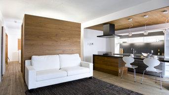リアルパネルブラックチークラスティック壁・天井・キッチン使用
