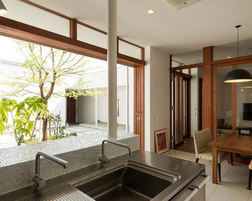 k chen mit r ckwand aus mosaikfliesen und schrankfronten. Black Bedroom Furniture Sets. Home Design Ideas