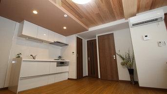 信州産無垢材を使用したやすらぎのリビングダイニングキッチンリフォーム(マンション)