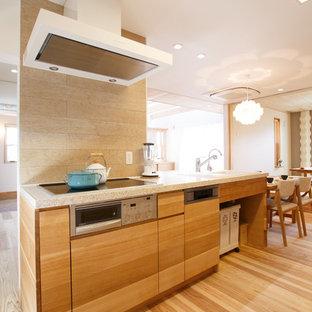 他の地域の北欧スタイルのおしゃれなキッチンの写真