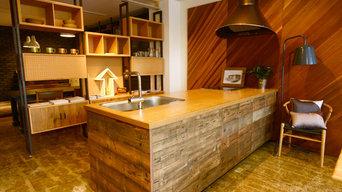 古材キッチン