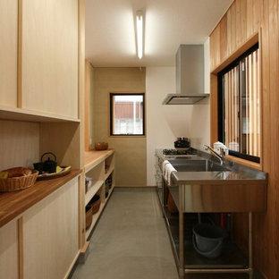 他の地域の和風のおしゃれなキッチンの写真