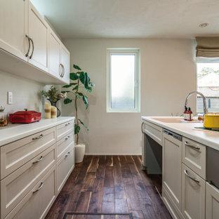 他の地域のトランジショナルスタイルのおしゃれなキッチンの写真