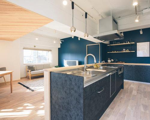 skandinavische k chen mit arbeitsplatte aus fliesen ideen bilder. Black Bedroom Furniture Sets. Home Design Ideas