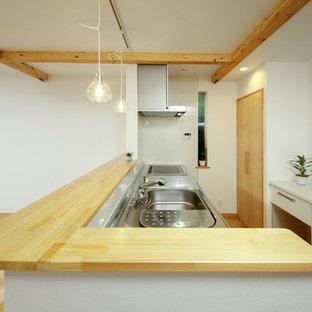 東京23区の和風のおしゃれなキッチンの写真