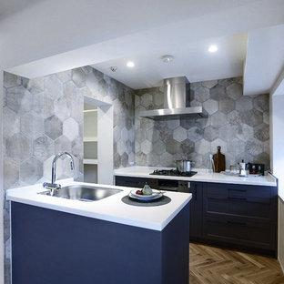 名古屋のトランジショナルスタイルのおしゃれなキッチンの写真