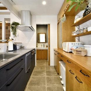 コンテンポラリースタイルのおしゃれなキッチンの写真