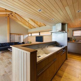 神戸の和風のおしゃれなキッチンの写真