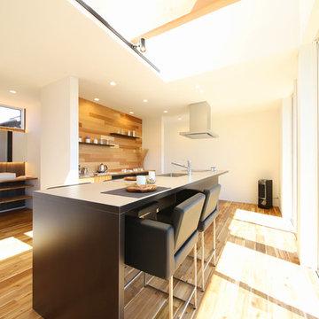納入事例:こだわりを詰め込んだ、素材感を楽しむ家