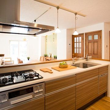 自然素材で造った居心地の良いグリーンハウス