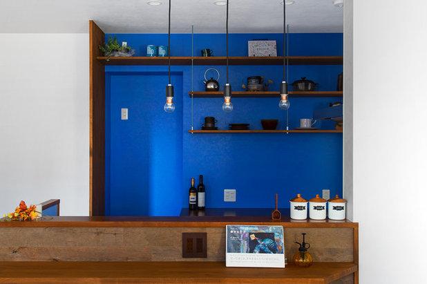 コンテンポラリー キッチン by 株式会社 アキムラフライング・シー 一級建築設計事務所