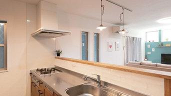 遊び心のある家 キッチン