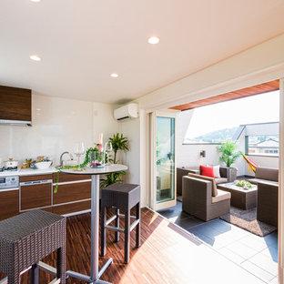 Asian Eat In Kitchen Ideas   Eat In Kitchen   Zen Single Wall