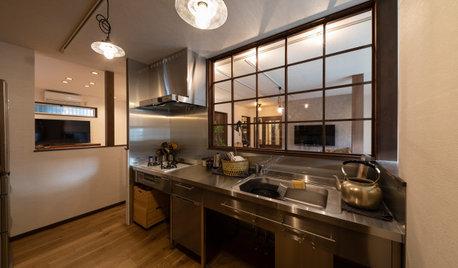 ガラスでゆるやかに間仕切る。室内窓のある開放的な住まいの事例集