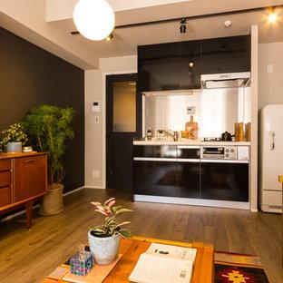 東京23区のエクレクティックスタイルのおしゃれなキッチンの写真
