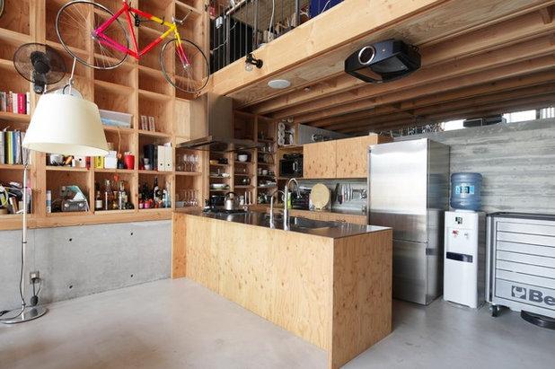 インダストリアル キッチン by 葛西潔建築設計事務所