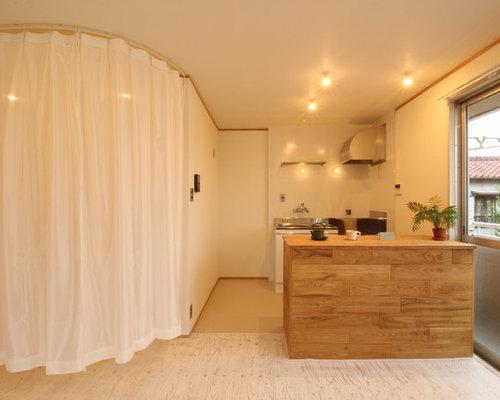cuisine avec un sol en contreplaqu photos et id es d co de cuisines. Black Bedroom Furniture Sets. Home Design Ideas