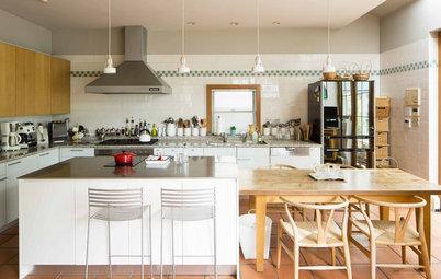 My Houzz:キッチンスタジオと、家族や友人と囲む食卓。豊かな食を楽しむ空間