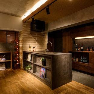 福岡のラスティックスタイルのおしゃれなキッチンの写真